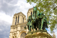 Notre Dame, Charlemagne Statue May 2015