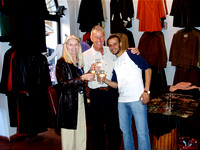 Gillean shopping in Florence, Italy 2004
