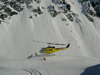 Helicopter skiing in Selkirk