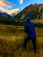 Evening photo session of Aoraki/Mount Cook